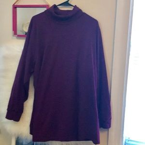 Final sale!Essential! 2x Burgundy Turtleneck Tunic